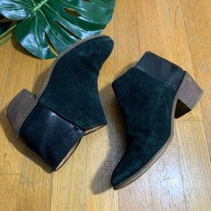 Madewell charley cait suede leather ankle booties